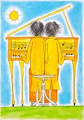 picture of gemini  - Piano players - JPG