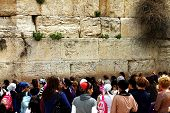 Jerusalem, Israel - March 03: Jewish Worshipers (women) Pray At The Wailing Wall An Important Jewish