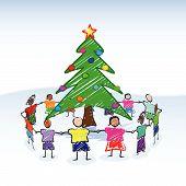 Weihnachtsbaum Zeichnung