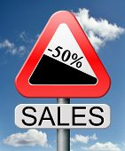 sale 50% off winter off for summer sales text on road sign concept for online web shop internet shop