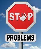 stoppen Sie Probleme zu, lösen Sie Problem zu und Tworten Sie an, Fragen mit Antwort zu lösen.