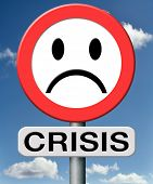 crisis bank economic and financial recession caused by stock market crash or a family or relation cr
