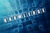 Knowledge In Blue Glass Cubes
