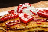 Delicious Pancake With Fruit