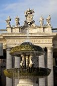 Bernini's fountain in St. Peter's Square at Vatican City, Rome