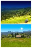 Carpathian mountains landscape