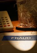 stock photo of white collar crime  - business crime  - JPG