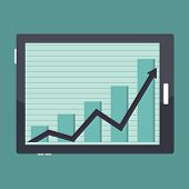Business Tablet Success Graphic