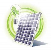 Eco lightbulb with solar panel