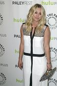 BEVERLY HILLS - MARCH 13: Kaley Cuoco arrives at the 2013 Paleyfest