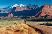 La Sal Mountains Near Moab