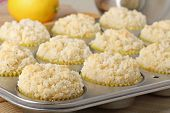 Lemon Muffins Closeup