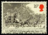 Britain Mail Coach Postage Stamp
