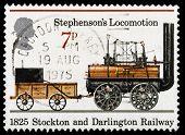 Britain Rocket Locomotive  Postage Stamp