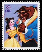 Disney Beauty And The Beast Postage Stamp
