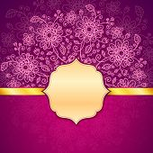 Vinous vintage flowers vector background