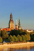Riga, The Capital Of Latvia By The Daugava River