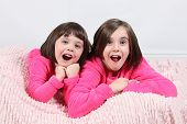 picture of little girls photo-models  - Adorable little girls posing for photos in PJ - JPG