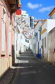 Cobblestone Street In Albufeira, Portugal