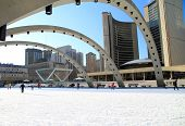 Nathan Phillips Square in Winter