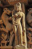Apsara Sculptor Of Vishvanatha Temple,Western Temples,Khajuraho,India - UNESCO world heritage site.