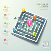 Vector Abstract 3D Maze Infographics