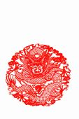 paper cutting Chinese Zodiac,  Chinese-dragon.