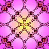 Pink Seamless Stained Glass Pattern Background
