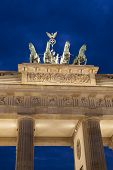 Quadriga Sculpture By Gottfried On Brandenburger Gate; Berlin