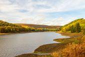 View Up The Derwent Valley In Autumn