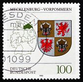 Postage Stamp Germany 1993 Coat Of Arms, Mecklenburg-western Pom