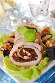 Turkey Roulade With Prune And Walnuts For Christmas