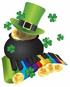 Leprechaun Hat With Piano Keys And Pot Of Gold