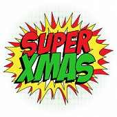 Merry Christmas Super Hero Background