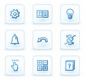 Organizer  web icons, square ice buttons