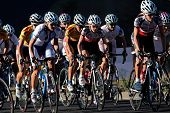 BLOEMFONTEIN, SOUTH AFRICA -NOVEMBER 7: A group of cyclists in action during the annual OFM Classic cycle race on November 7, 2010 in Bloemfontein, South Africa.