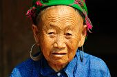 Portrait of Hmong woman in Vietnam.