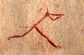 Bushmen (san) rock painting depicting a human figure, Drakensberg mountains, South Africa