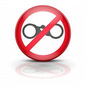 foto of no spamming  - Symbol binocular - JPG