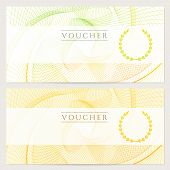 Gift Voucher / certificate / coupon template (banknote, money, currency, cheque, check)