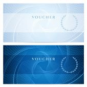 image of coupon  - Blue background with guilloche pattern  - JPG