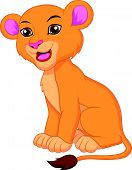 Cute lioness cartoon