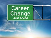 Career change just ahead concept
