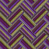 Multicolored Seamless Spring Knitted Pattern. Green Lilac Color Swatch