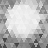 Abstract Background Of Mosaic Black And White Triangles, Lighter In The Middle.