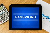 Password On Digital Tablet