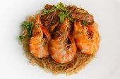 Steamed Glass Noodles With Shrimp