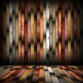 Interior Abstract Planks Backdrop