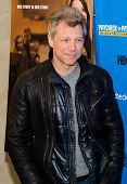 NEW YORK-MAR 13: Recording artist Jon Bon Jovi attends the 'Paycheck To Paycheck: The Life And Times
