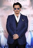 LOS ANGELES - APR 10:  Johnny Depp arrives to the 'Transcendence' Los Angeles Premiere  on April 10,
